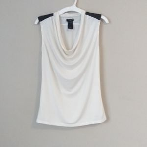 Ann Taylor Factory Petite Sleeveless Drape Top